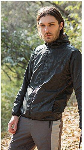 KT-Global Rain Jacket for Men & Women Unisex Waterproof Lightweight Hooded Running Cycling Rainwear Outdoor Hooded Raincoat Skin Coat