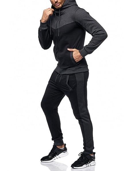 Violento - Ensemble survêtement stylé Noir Gris Noir - XS  Amazon.fr   Vêtements et accessoires 900aeaf3a1f2
