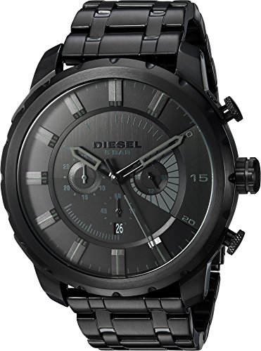 - Diesel Men's DZ4349 Stronghold Black Stainless Steel Watch