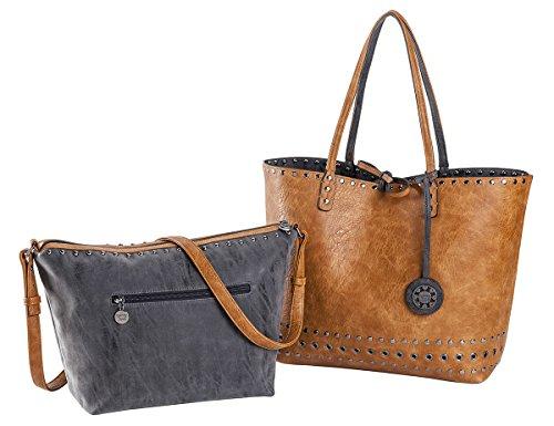sydney-love-grommet-reversible-tote-crossbody-bag-set-charcoal-saddle