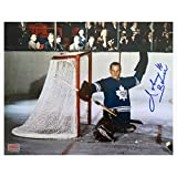 Signed by Johnny Bower 8x10 Action Photo Toronto Maple Leafs