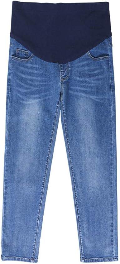 Pantalones De Maternidad De Gran Tamano Pierna Ancha Suelta Mas Gordas Mujeres Embarazadas Jeans Cintura Ajustable Vestido De Maternidad Ropa Embarazada Amazon Es Ropa Y Accesorios