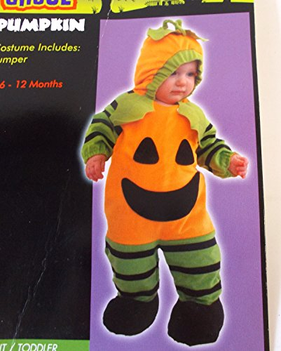 [Pumpkin Jack-O-Lantern Hooded Jumper Child Infant Costume 6-12M NIP] (Kmart Costumes For Babies)