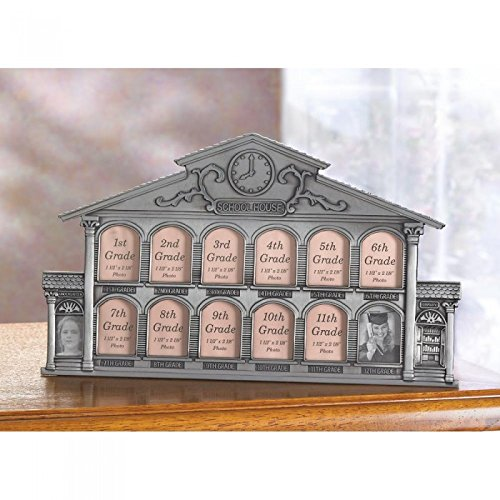 Picture School House Frame Pictures Photo Kids Child Children Gift Room Den Class Photos Grandparent Wood Glass ()