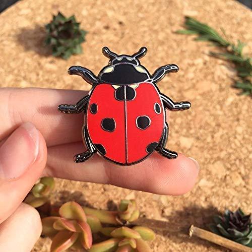 Lady Beetle Hard Enamel Pin Lapel Pin Lady Beetle Lady Bird Beetle Brooch