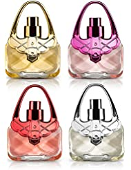 Eau De Fragrance Perfume Sets for Girls- Perfect Body Mist Gift Set for Teens and Kids - Purses - 4 Pack