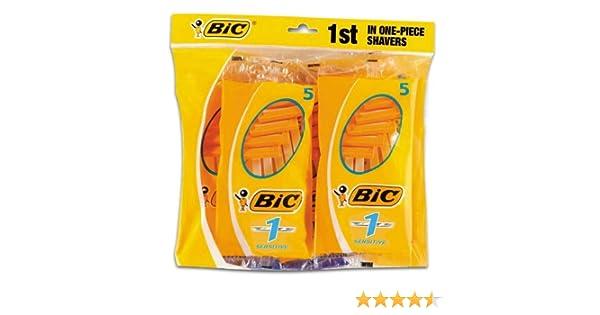 BiC 1 Sensitive - Cuchillas de afeitar desechables para hombre (8 ...