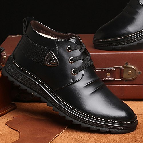 Classic Fur Winter Black Boots Shoes Retro Wool Padgene Lining Boots Sneaker Leather Men's Snow f85wqWI