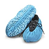 Disposable Boot & Shoe Covers 120 Pack (Size 11 or less, Light Blue)