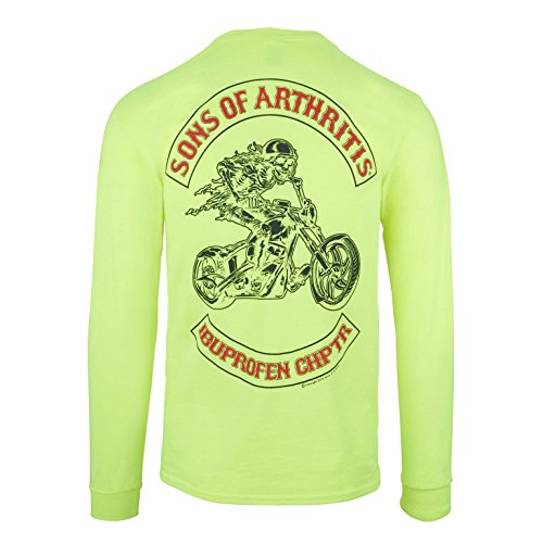 (Sons of Arthritis Safety Green Ibuprofen Chapter Long Sleeve 100% Cotton Shirt (X Large) )