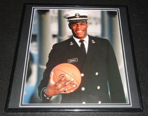 David Robinson Framed 12X12 Poster Photo Navy San Antonio Spurs -