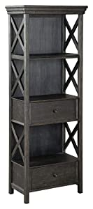 Ashley Furniture Signature Design - Tyler Creek Display Cabinet - 2 Drawers - 3 Shelves - Black