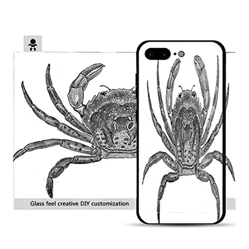 iPhone 7p / 8p Ultra-Thin Phone case Antique Illustration of Common Shore Crab (Carcinus maenas) Resistance to Falling, Non-Slip, Soft, Convenient Protective case