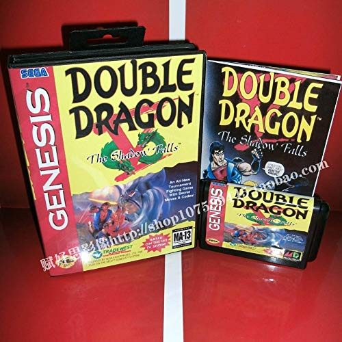 Double Dragon V The Shadow Falls Cartridge with Box and Manual 16 Bit Md Card for Sega Mega Drive for Genesis