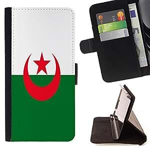 - Flag - - Prima caja de la PU billetera de cuero con ranuras para tarjetas, efectivo Compartimiento desmontable y correa para la mu?eca FOR HTC M8 One 2 King case