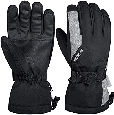 NEW LADIES BUCKLE LEATHER MEDIUM//LARGE THERMAL GLOVES WINTER COLD WARM DRIVING
