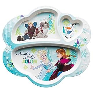Zak Designs Disney Kids Divided Plates, Frozen Girl