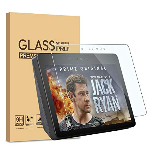 [2 Pack] KATIAN Screen Protector for Echo Show 2nd, HD Clear Protector [Anti-Scratch] [No-Bubble], 9H Hardness Tempered Glass Screen Film for Amazon Echo Show (2nd Gen) 10.1'