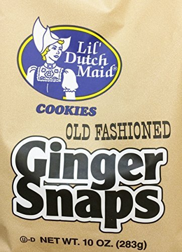 (2 x 10oz Lil's Dutch Maid Old Fashioned Ginger Snaps Cookies (Two Bags per order) by Lil's Dutch Maid)