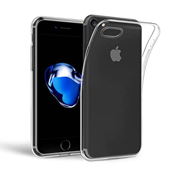 249a93bd24 Amazon | EasyAcc iPhone 7/8 用 クリア 透明 TPU ケース ソフト 保護 ...
