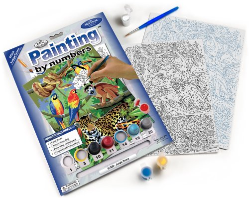 Royal & Langnickel Painting by Numbers Junior Small Art Activity Kit, Jungle Scene]()