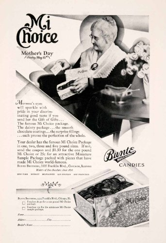 1929 Ad Mi Choice Bunte Candies Chocolates Candy Mothers Day Gift Grandmother - Original Print Ad