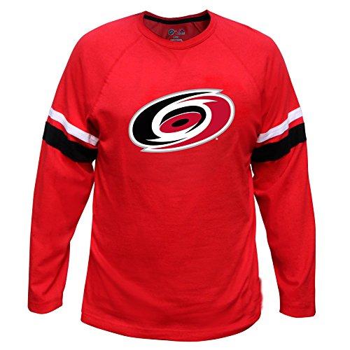 NHL Carolina Hurricanes Long Sleeve Tee with Double Arm Stripes, Large, (Carolina Hurricanes Hoodie)