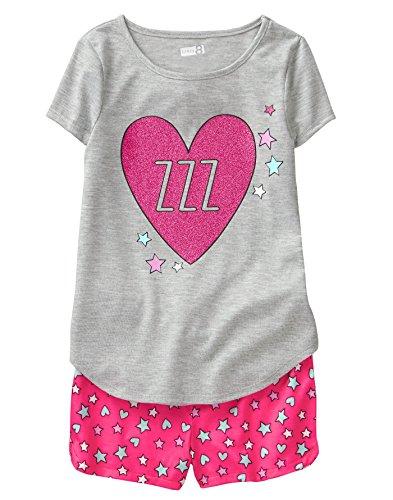 Crazy 8 Girls' Little Short Sleeve FIRE Resistant Pajama Set, Purple Unicorn Dreams XXS ()