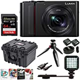PANASONIC LUMIX ZS200 4K Camera 15X LEICA DC Vario-Elmar Lens DC-ZS200K - USA Black (Video Creator Bundle)