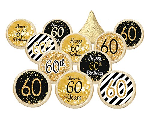 60th-birthday-party-decorations-gold-black-stickers-for-hershey-kisses-set-of-324