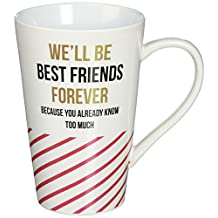 Pavilion Gift Company 75119 Best Friends Forever Ceramic Mug, 18 oz, Multicolor