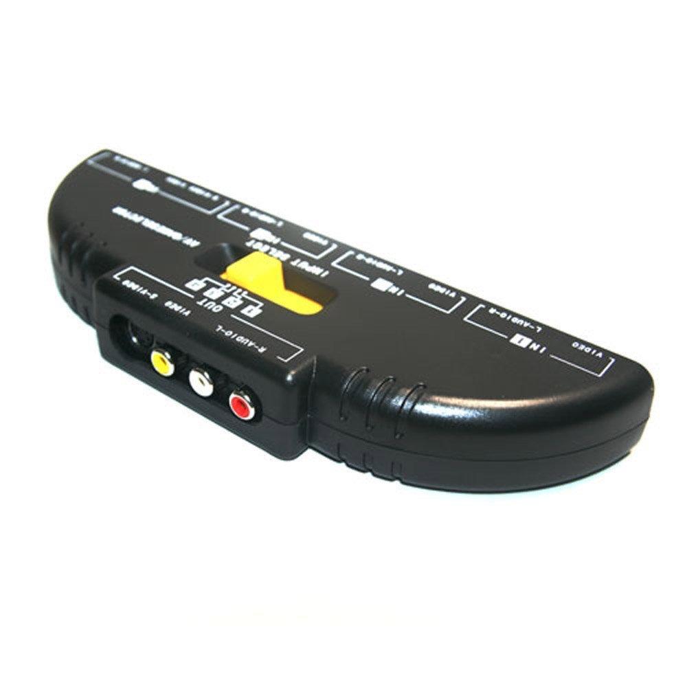Amazoncom Allnice 4 Way Audio Video AV Switch Switcher 4 Input