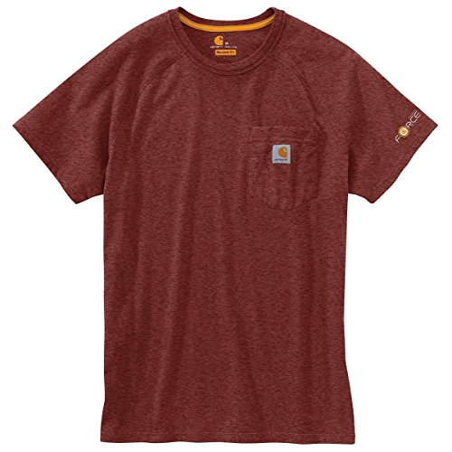 Carhartt Men's 100410 Force Short Sleeve Pocket T-Shirt - XX-Large - Sable Heather by Carhartt