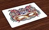 Best Ambesonne Masquerade Masks - Ambesonne Mardi Gras Place Mats Set of 4 Review