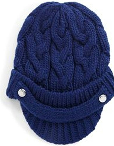 Michael Kors Cableknit Newsboy Hat, Sapphire