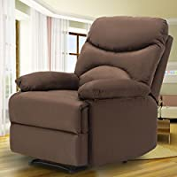 SUNCOO Microfiber Massage Recliner Sofa Chair Ergonomic Lounge Heated w/Control (Chocolate)
