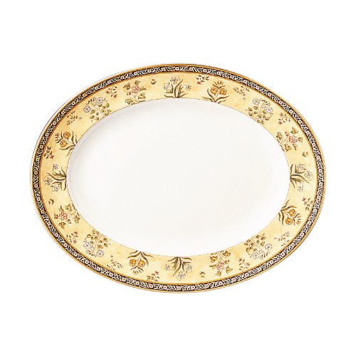 - Wedgwood India 13-3/4-Inch Oval Platter