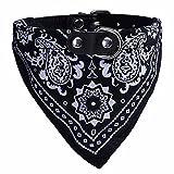 Binmer(TM)Adjustable Pet Dog Puppy Cat Neck Scarf Bandana Collar Fashion Neckerchief (Black)