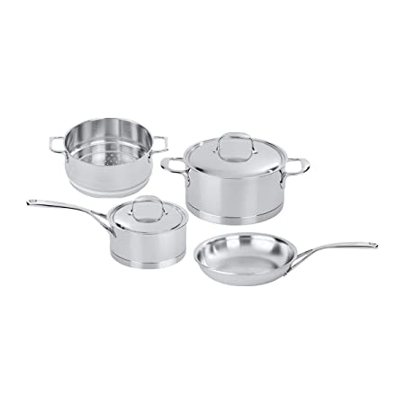 Demeyere 41006 Atlantis 7-Ply Stainless Steel Cookware Set, 6-pc