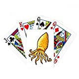 Yellow Octopus Marine Life Pattern Poker Playing Card Tabletop Board Game Gift