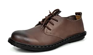 Bruno MARC MODA ITALY 0868 Men's Dress Classic Casual Oxfords Leather Lace Up Comfort Shoes Brown SIZE 9.5