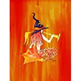 Carolines Treasures 8629CHF 28 x 40 in. Halloween Mermaid in Witches Hat Flag Canvas44; House Size