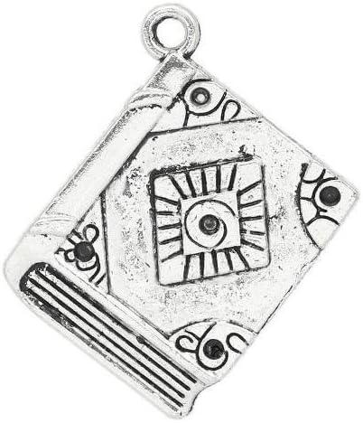 Libro ZX04630 - Charming Beads Pacco 5 x Argento Antico Tibetano 12mm Ciondoli Pendente