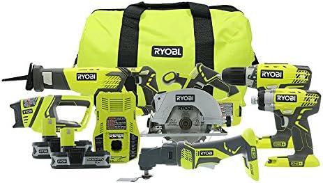Ryobi P884 18-Volt ONE Lithium-Ion Combo Kit 6-Tools