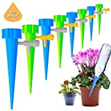 JOLVVN Self Watering Spikes, 12-Piece/Set Garden Cone Watering Spikes Drip Controller Flower Plant Waterers Bottle Automatic Irrigation System