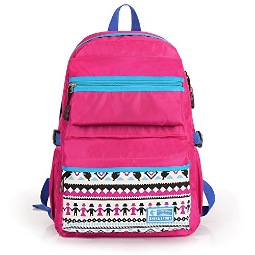 Ofertas especiales SunBao hombres coreanos de doble hombro bolsas mochila de moda coreana, los estudiantes de secundaria básica de mochilas escolares viajes de ocio rojo (para adultos) Rojo (nacional)