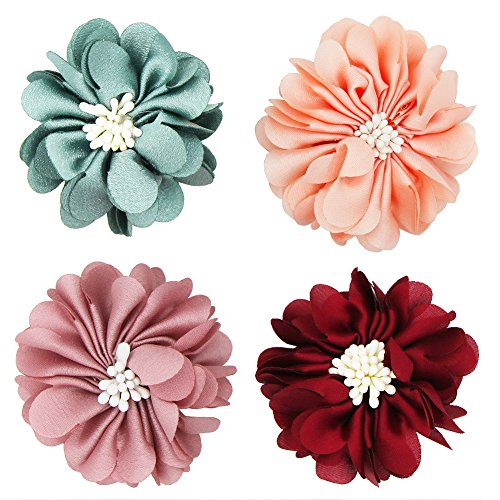 (SUNYUM Dog Collar Flowers Pet Charms Flower Collars Accessories for Cat Puppy Bowtie Grooming Decoration Pack of 4 (Daisy))