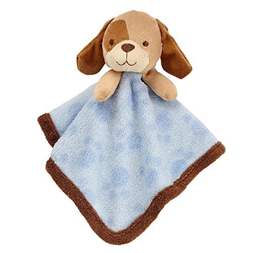 Baby Boys Plush Puppy Dog Security Blanket (Koala Blanket Soft Baby)