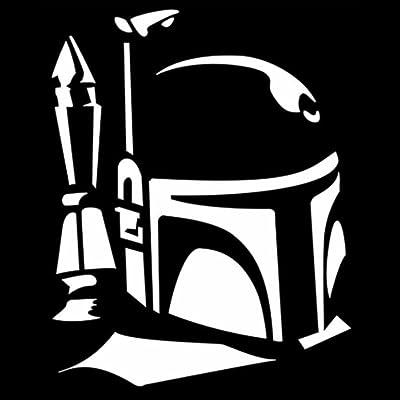 CCI Boba Fett Profile Star Wars Decal Vinyl Sticker|Cars Trucks Vans Walls Laptop| White |5.5 x 4.5 in|CCI553: Automotive [5Bkhe2010679]