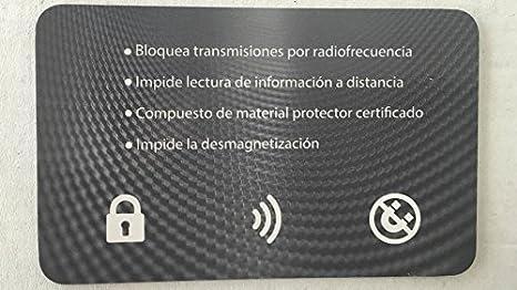 Fundas protectoras inhibidoras bloqueo tarjeta credito Set 5 ...